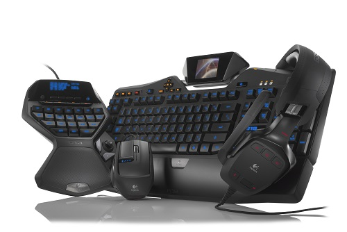 Logitech G mouse, keyboard, headset, gamingpad
